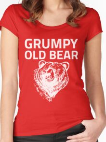 Grumpy Old Bear Women's Fitted Scoop T-Shirt