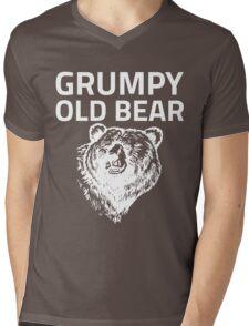 Grumpy Old Bear Mens V-Neck T-Shirt
