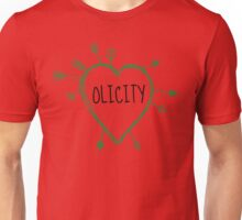 Olicity - Heart with Green Arrows Doodle Unisex T-Shirt