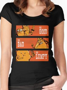 The Good, the Bad and the Lumpy Women's Fitted Scoop T-Shirt