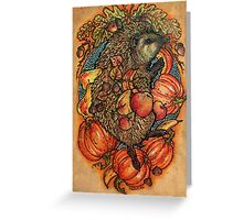 Autumn allegory Greeting Card