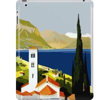 Vintage Italian Lakes Travel iPad Case/Skin