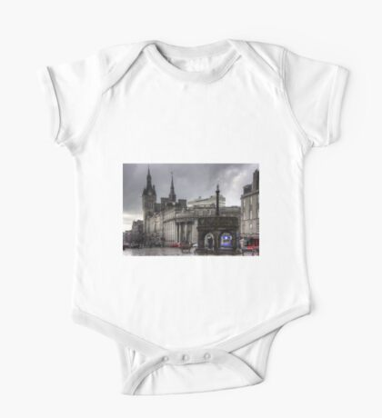 The Castlegate in the driving rain One Piece - Short Sleeve