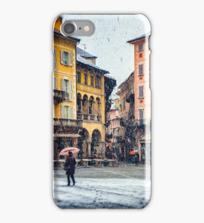 Italian square and snow iPhone Case/Skin