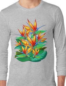 Bird of Paradise Flower Exotic Nature Long Sleeve T-Shirt