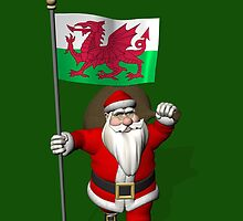 Santa Claus With Flag Of Wales by Mythos57