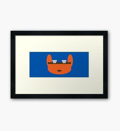Jak & Daxter - Daxter - Minimal Design Framed Print