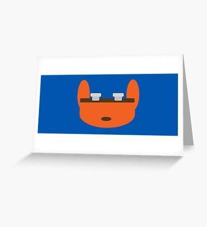 Jak & Daxter - Daxter - Minimal Design Greeting Card