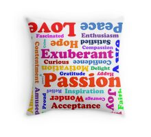 Emotional delights Throw Pillow