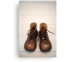 Baby Brogue Boots Canvas Print