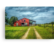Red Barn Rustic Canvas Print