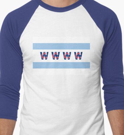 Cubs Win Chicago Flag Men's Baseball ¾ T-Shirt