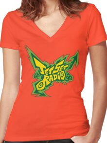 Jet Set Radio Women's Fitted V-Neck T-Shirt