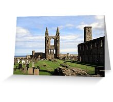 St Andrews' Cathedral - another angle Greeting Card