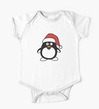 Christmas Penguin One Piece - Short Sleeve