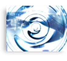 Abstract technology disk -  digitally generated image Canvas Print