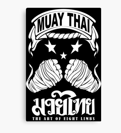 muay thai king fist Canvas Print