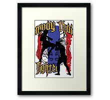 muay thai fighter flag Framed Print
