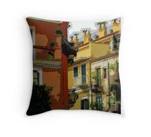 Sicily - Taomina street scene Throw Pillow