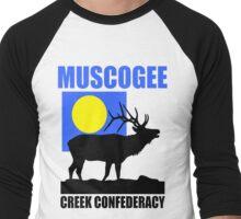 MUSCOGEE-2 Men's Baseball ¾ T-Shirt