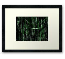 Abstract matrix pattern - digitally generated image Framed Print