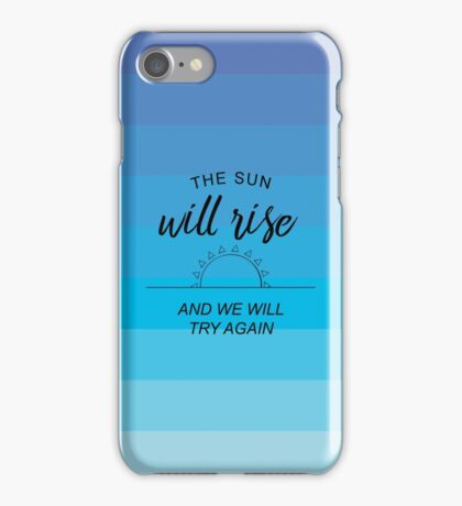 sun will rise - blue/purple iPhone Case/Skin