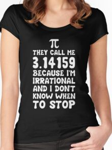 They call me Pi Women's Fitted Scoop T-Shirt