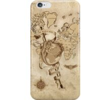 World Map (Here be Dragons) iPhone Case/Skin