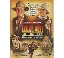 young Indiana Jones chronicles poster Photographic Print