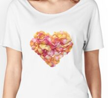 Heart of the rose petals Women's Relaxed Fit T-Shirt