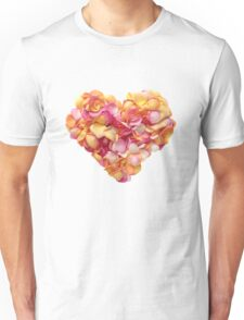 Heart of the rose petals Unisex T-Shirt