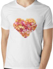 Heart of the rose petals Mens V-Neck T-Shirt