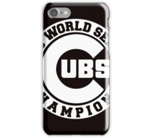 CUBS 2016 WORLD SERIES CHAMPIONS VINTAGE WHITE iPhone Case/Skin