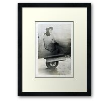 Plane name unknown, WW2 Nose Art Framed Print
