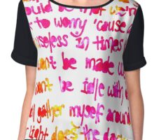 If I could tell the world... Chiffon Top
