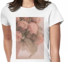 Dried Pink Peonies Womens Fitted T-Shirt
