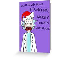 Rick and Morty Christmas Card Greeting Card