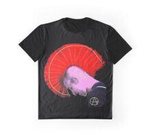 Red Mohawk Punk Graphic T-Shirt