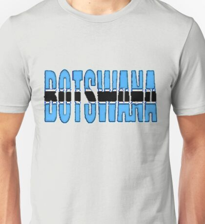 Botswana Font with Flag of Botswana Unisex T-Shirt