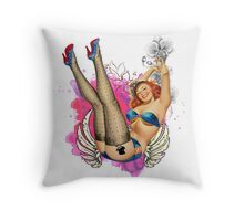 Pin UP Girl Throw Pillow