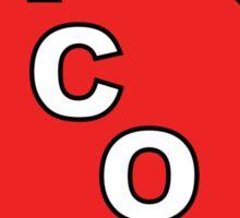 Red GA Tacos Sticker