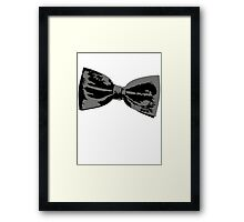 Bow Tie (inclined right) Framed Print