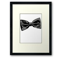 Bow Tie (inclined left) Framed Print