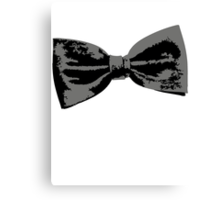 Bow Tie (inclined left) Canvas Print