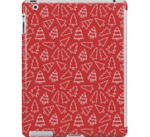 Red Christmas Trees  iPad Case/Skin