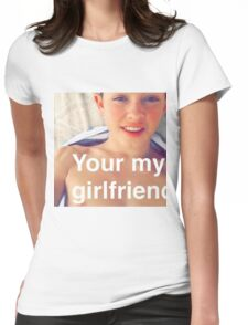 Jacob Sartorius you're my girlfriend Womens Fitted T-Shirt