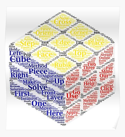 Rubiks cube wordcloud Poster