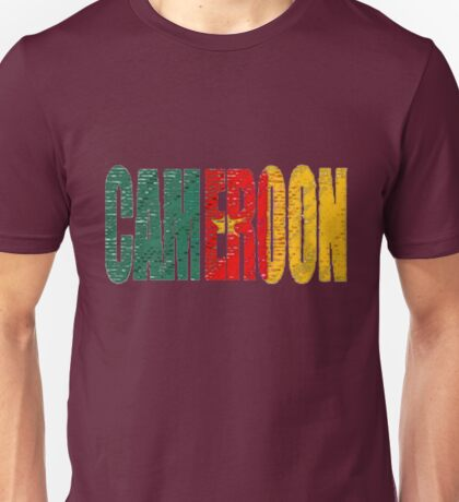 Cameroon Font with Flag Unisex T-Shirt
