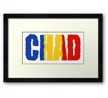 Chad Font with Flag Framed Print