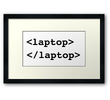 Computer. Latop code Framed Print